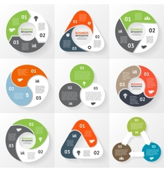 circle triangle infographics set Template for vector image vector image