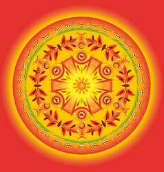 Circular pattern in orange vector