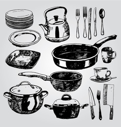 dishware vector image