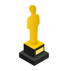 Film awards 3D isometric icon vector image