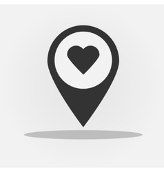 gps navigation style icon with heart vector image vector image