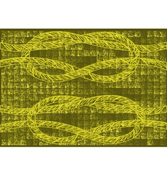 Grunge background with rope vector