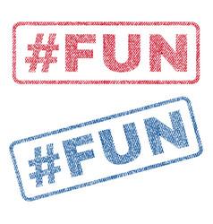 Hashtag fun textile stamps vector