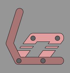 Icon in flat design snowboard binding vector