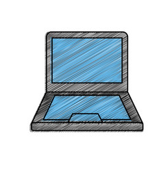 isolated laptop design vector image