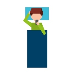 Man male young using smartphone icon vector