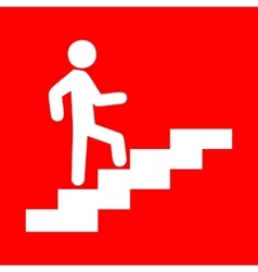 Man on Stairs going up vector image vector image