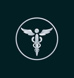 medicine symbol logo icon design vector image vector image