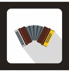 Oktoberfest accordion icon flat style vector image vector image