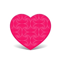 Patterned cute pink heart vector image