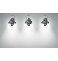 Realistic hanging spotlights composition vector