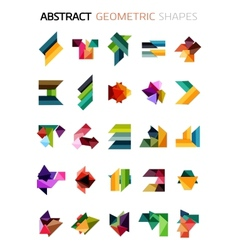 Set of colorful abstract geometric shapes vector