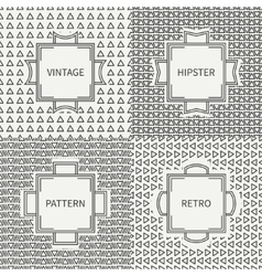 Set of hand drawn line ink polygon hipster vector