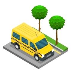 Taxi isometric 3d van car truck cargo vector