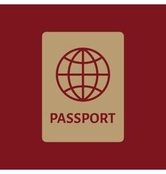 The passport icon travel symbol flat vector