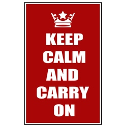 Keep calm and carry on red vector