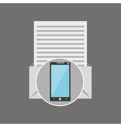 Smartphone news letter post vector