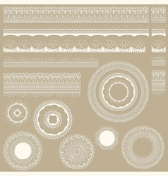 Lacy vintage design elements vector