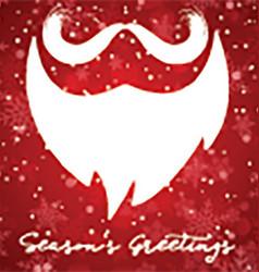 Christmas background with santa beard vector image