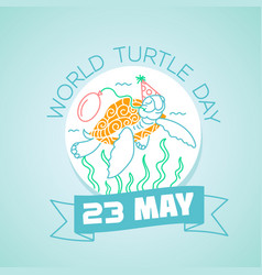 23 may world turtle day vector
