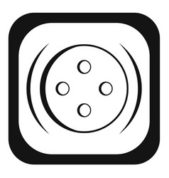 clothing square button icon simple style vector image