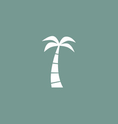 Palm icon simple vector