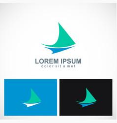 triangle loop abstract arrow logo vector image