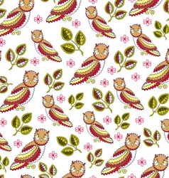 Owl endless seamless pattern vector