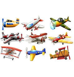 A group of planes vector image