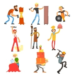 Profession and occupation set vector