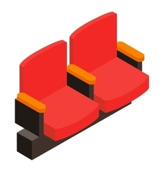 Cinema armchair 3d isometric icon vector