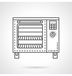 Bakery equipment flat line icon stove vector