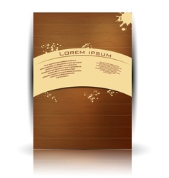 Wood texture retro card vector