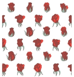 Light seamless background with red roses vector