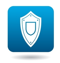 Protective battle shield icon simple style vector
