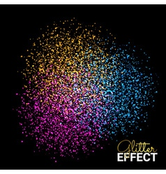 Abstract colorful burst effect of colors paint vector
