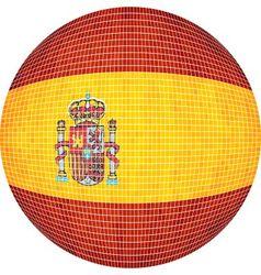 Ball with spain flag vector