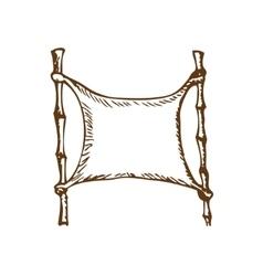 bamboo sticks vector image vector image