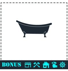 Bathtub icon flat vector