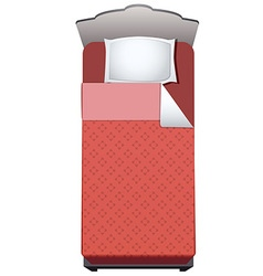 bed single vector image vector image