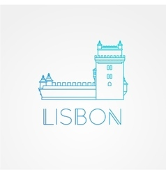 Belem tower - the symbol of lisbon portugal vector