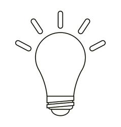 Bulb idea innovation creative outline vector