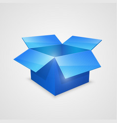 Color open box blue vector