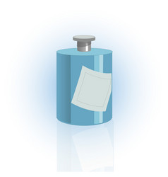 Cosmetic bottle container dispenser for cream vector