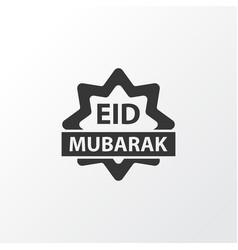 Eid mubarak icon symbol premium quality isolated vector