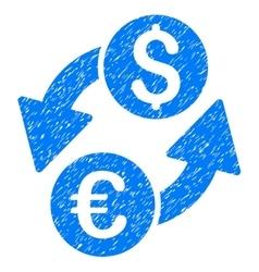 Euro dollar exchange grainy texture icon vector