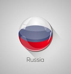 European flags set - russia vector