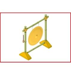 Gong flat 3d vector