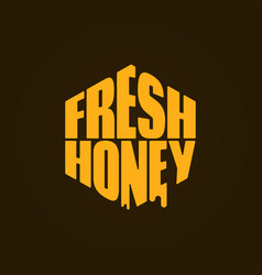 honey logo design fresh honey comp lettering vector image