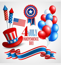 Independence Day holiday symbols vector image